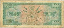 1000 Francs BURUNDI  1965 P.14 B+
