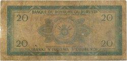 20 Francs BURUNDI  1965 P.15 B