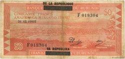 50 Francs BURUNDI  1965 P.16a TB
