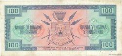 100 Francs BURUNDI  1965 P.17a TTB
