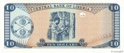10 Dollars LIBERIA  2008 P.27d NEUF