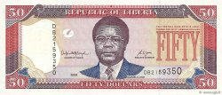 50 Dollars LIBERIA  2008 P.29c NEUF