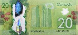 20 Dollars CANADA  2012 P.108a NEUF
