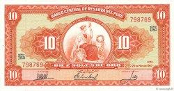 10 Soles de Oro PÉROU  1967 P.084a NEUF