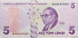 5 Turk Lirasi TURQUIE  2013 P.New NEUF