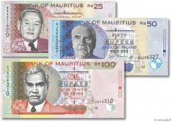 Lot de 3 Billets Monde ÎLE MAURICE  2009 P.49-50-56 NEUF