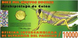 10000 Nouveaux Sucres ÎLES GALAPAGOS  2011 P.- NEUF