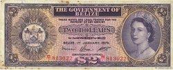 2 Dollars BELIZE  1976 P.34c TB