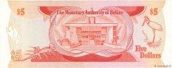 5 Dollars BELIZE  1980 P.39a TTB+