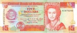 5 Dollars BELIZE  1991 P.53b NEUF