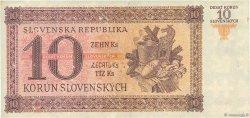 10 Korun SLOVAQUIE  1943 P.06a TTB+