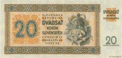 20 Korun SLOVAQUIE  1942 P.07a SUP+