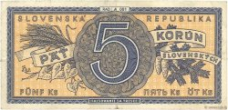 5 Korun SLOVAQUIE  1945 P.08a TB+