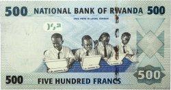 500 Francs RWANDA  2013 P.38 NEUF