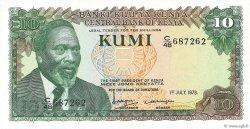 10 Shillings KENYA  1978 P.16 NEUF