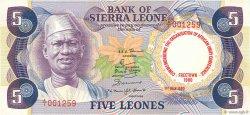 5 Leones SIERRA LEONE  1980 P.12 pr.NEUF