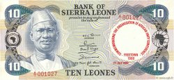 10 Leones SIERRA LEONE  1980 P.13 pr.NEUF