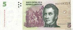 5 Pesos ARGENTINE  2010 P.353(var) NEUF