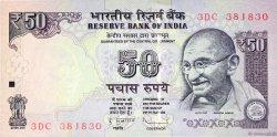 50 Rupees INDE  2013 P.097(k) NEUF