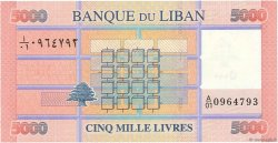 5000 Livres LIBAN  2012 P.91 NEUF
