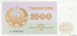 1000 Sum OUZBEKISTAN  1992 P.70a NEUF