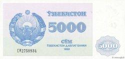 5000 Sum OUZBEKISTAN  1992 P.71a NEUF
