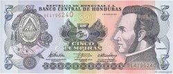 5 Lempiras HONDURAS  2010 P.091c NEUF