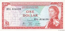 1 Dollar CARAÏBES  1965 P.13e SUP