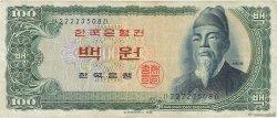 100 Won CORÉE DU SUD  1965 P.38a TTB