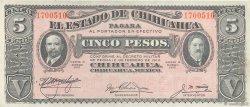 5 Pesos MEXIQUE  1915 PS.0532e SUP