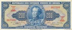 200 Cruzeiros BRÉSIL  1964 P.171b TTB