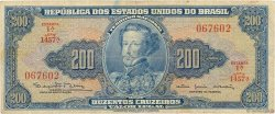 200 Cruzeiros BRÉSIL  1964 P.171c TB