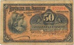 50 Centavos PARAGUAY  1903 P.105a B