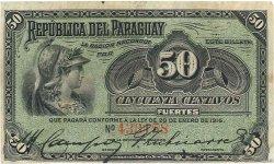 50 Centavos PARAGUAY  1916 P.137a TB
