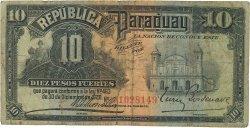 10 Pesos PARAGUAY  1920 P.144a B+