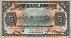 5 Pesos PARAGUAY  1923 P.149a TTB+