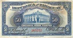 50 Pesos PARAGUAY  1923 P.165a TB
