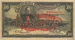 5 Guaranies sur 500 Pesos PARAGUAY  1943 P.174 TB
