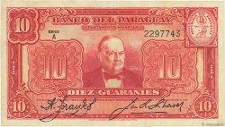 10 Guaranies PARAGUAY  1943 P.180 SUP