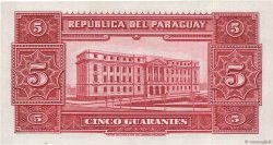 5 Guaranies PARAGUAY  1952 P.186a pr.NEUF