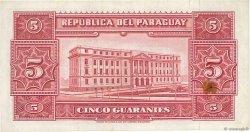 5 Guaranies PARAGUAY  1952 P.186c TTB