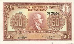 50 Guaranies PARAGUAY  1952 P.188b pr.NEUF