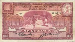 1000 Guaranies PARAGUAY  1952 P.191a pr.TTB