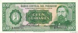 100 Guaranies PARAGUAY  1963 P.198a NEUF