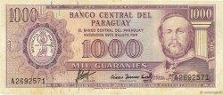 1000 Guaranies PARAGUAY  1963 P.201a TB