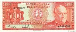 5000 Guaranies PARAGUAY  1982 P.208 TTB