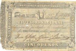 5 Pesos PARAGUAY  1861 P.014 pr.B