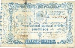 2 Pesos PARAGUAY  1865 P.022 TB