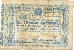 3 Pesos PARAGUAY  1865 P.023 TB