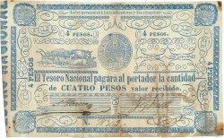4 Pesos PARAGUAY  1865 P.024 TTB